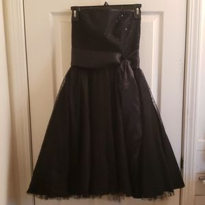 BCBG Paris Formal Strapless Dress Black Size 4